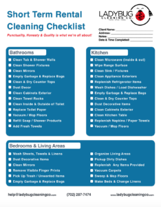 Airbnb Checklist 1 2 Best House Cleaning Service In Las